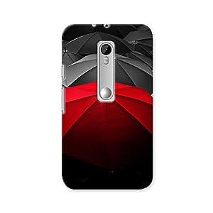 ArtzFolio Unique Red Umbrella : Motorola Moto G Turbo Edition Matte Polycarbonate ORIGINAL BRANDED Mobile Cell Phone Protective BACK CASE COVER Protector : BEST DESIGNER Hard Shockproof Scratch-Proof Accessories