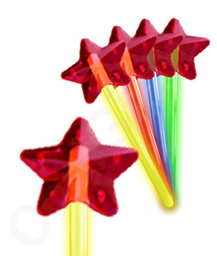 Fun Central X548 Glow in the Dark Premium Star Wand - Assorted - 1
