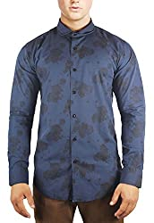 Unkonventional Navy Floral Printed Shirt