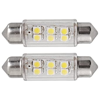 10X 39MM AMPOULE LAMPE 6 SMD LED BLANC POUR VOITURE DOME