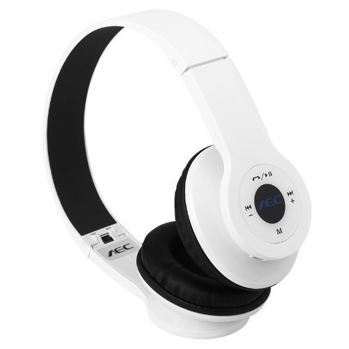 Bluetooth Headphones - AEC BQ-605 Wireless Headset Bluetooth 2.1 + EDR  Multifunction Headphones with FM SD for Android Smartphone Tablet PC White  iPhone ... b64155342b
