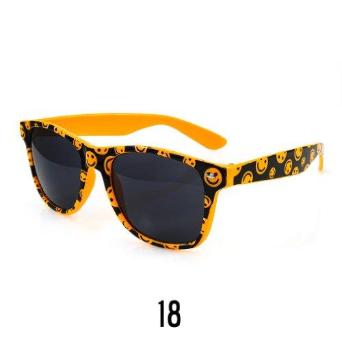 Sonnenbrille Nerdbrille retro Wayfarer Unisex Herren/Damen Sonnenbrille, UV-Schutz 400, Schildpatt Herren Sonnenbrille Spicoli 4 Shades, Tortoise Aussen, One size (18)