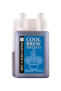 Cool Brew® Fresh Coffee Concentrate - Original 1 Liter - Make Iced Coffee or Hot Coffee - Enough for over 32 drinks