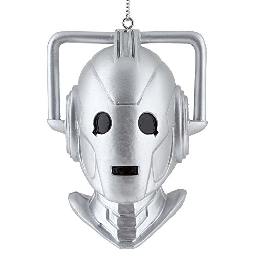 Doctor Who Cyberman Bust Blow Mold Christmas Ornament