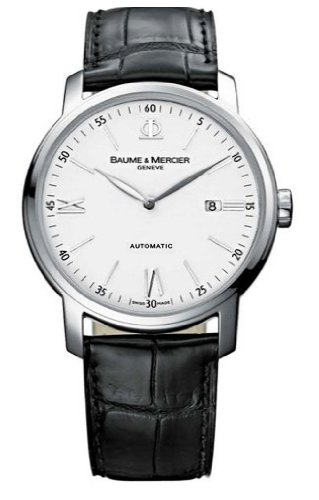 Baume &#038; Mercier Men&#8217;s 8592 Classima Automatic Leather Strap Watch