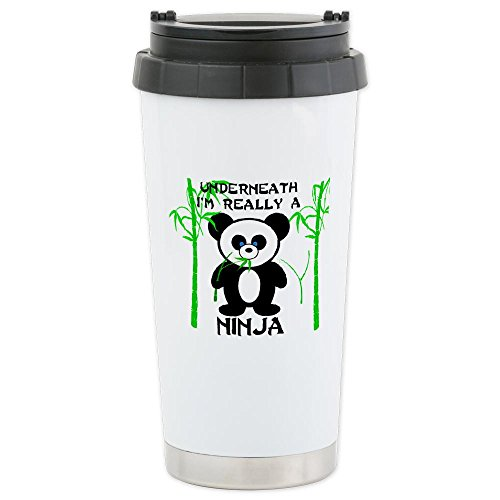 Cafepress Ninja Panda Ceramic Travel Mug - Standard Multi-Color