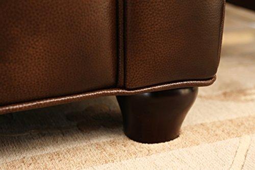 Abbyson Living Foyer Premium Italian Leather Sofa 5
