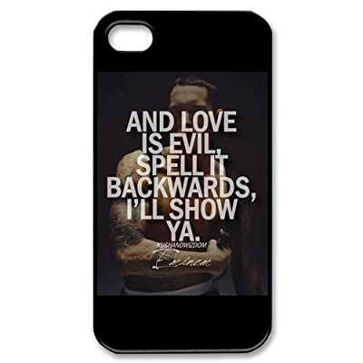 MY LITTLE IDIOT IPHONE 4, 4s Case, Eminem Hard Plastic Back Protection Cover for Iphone 4, 4S