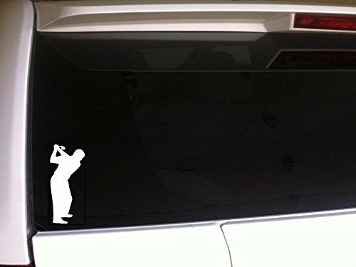 "Man Golfer Silhouette 7"" Car Decal Vinyl Sticker Laptop Skin *F34 Golf Player Pro Cart Country Clubs Golfing Tee Course"
