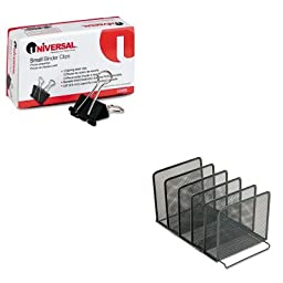 KITROL22141UNV10200 - Value Kit - Rolodex Mesh Stacking Sorter (ROL22141) and Universal Small Binder Clips (UNV10200)