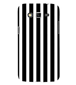 Black and White Lines 3D Hard Polycarbonate Designer Back Case Cover for Samsung Galaxy Grand I9082 :: Samsung Galaxy Grand Z I9082Z