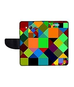 KolorEdge Printed Flip Cover For Samsung Galaxy Grand Prime Multicolor - (50KeMLogo11055SamS530)