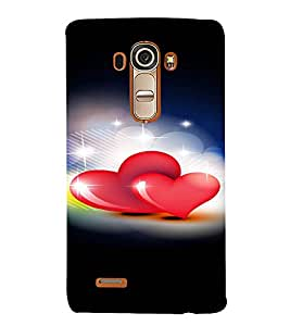 PrintVisa Love Hearts Design 3D Hard Polycarbonate Designer Back Case Cover for LG G4