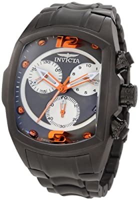Invicta Men's 1685 Lupah Chronograph Grey Dial Gunmetal Ion-Plated Stainless Steel Watch
