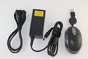 Toshiba PA3822U-1ACA Replacement 19V 2.37A 45W AC Adapter For Toshiba Model Numbers: Satellite C850D-00G00F, PSCBQU-00G00F, Satellite C850D-ST3NX1, PSCBQU-00200F, Satellite C855D-S5303, PSCBQU-00600J, Satellite C855D-S5315, PSCBQU-00F009. 100% Compatible With Toshiba P/N: PA3822U-1ACA. Bundle - 3 items: AC Adapter, Power Cord and MegaPlus Optical Mouse - Black.
