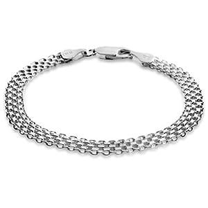Sterling Silver Bismark 4 Rowed Bracelet 7