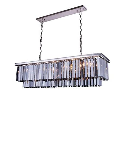 Urban Lights Sydney 12-Light Pendant Lamp, Polished Nickel/Silver