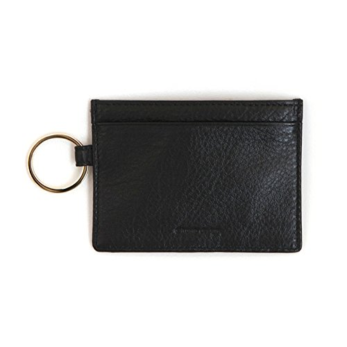 Leather River Slim Card Wallet Useful Credit Card Key Ring Wallets Small Purse (Black) (Key Package compare prices)
