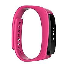 buy Dokpav® X2 Fitness Activity Tracker Wristband Bluetooth Waterproof Headphone + Smart Bracelet Wristband Intelligent Bracelet Pedometer For Ios Android - Pink