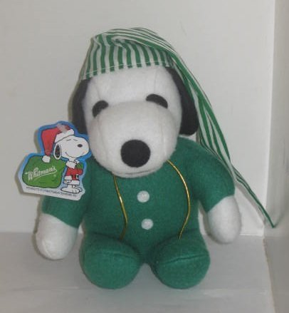 "Peanuts Snoopy as an ELF Whitman's Christmas Holiday Plush 6"" - Green - 1"