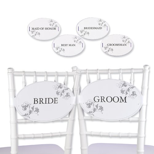 Wedding 12 Pc. Wedding Party Chair Decorations Gift
