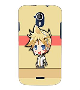 PrintDhaba Cute Girl D-5385 Back Case Cover for MICROMAX A116 CANVAS HD (Multi-Coloured)