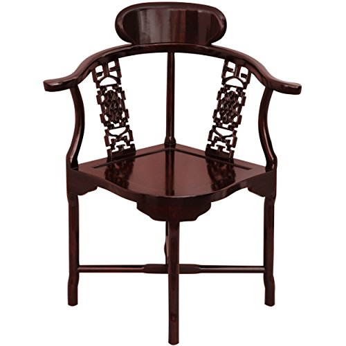 Oriental Furniture Rosewood Corner Chair - Rosewood