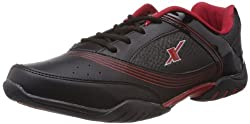 Sparx Mens Black and Red Running Shoes - 6 UK (SM-186)