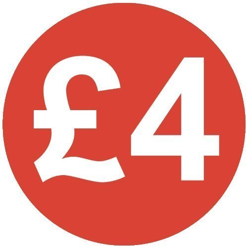 Audioprint Lot Petit 13mm £4Prix Stickers-10000PACK