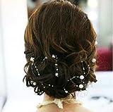 Miya-4-Stck-13m-schne-wei-Perlengirlande-Braut-Harr-Accessoires-Braut-Hochzeit-Haarschmuck-Hochzeit-Deko-Tisch-deko