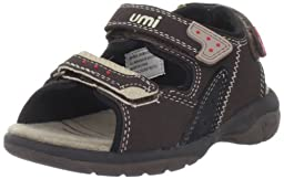 umi Payton Ankle-Strap Sandal (Toddler/Little Kid/Big Kid),Brown,27 EU(10 M US Toddler)