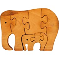 Little Genius Jigsaw Puzzle - Elephant - Natural Finish, Multi Color