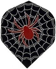 M306 - Black Widow Spiders Web - 3 Sets of 3 Poly Super Metronic Standard Wide Shaped Dart Flights