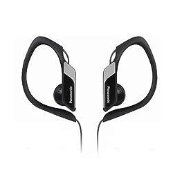 Panasonic RP-HS34 Black Sweat Resistant Sports Earphones with adjustable Earclip