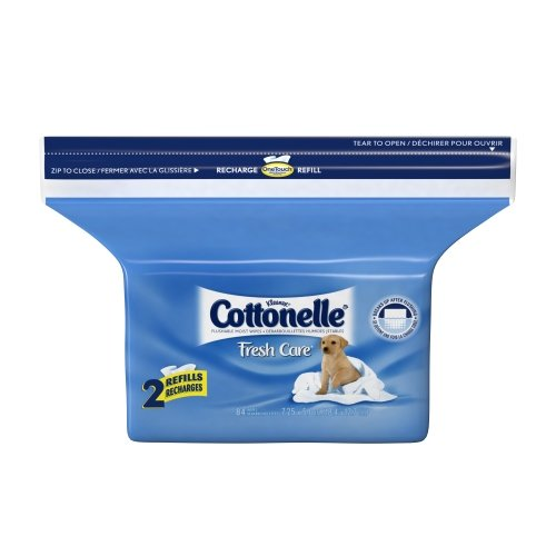 Cottonelle Fresh Flushable Wipes, Refills, Case Of 4/84S (336 Ct) front-22495