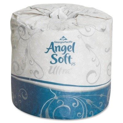 Angel Soft Ultra 2-Ply Premium Embossed Bathroom Tissue, Whi