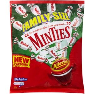 Allen's Minties 375g Family Size (Made in Australia)