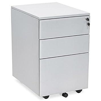 Office Mobile 3 cassetti MATHIAS (grigio) di design metallo