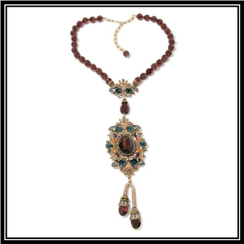 Heidi Daus Enticing Elegance Beaded Drop Necklace Gorgeous beyond words A Must!