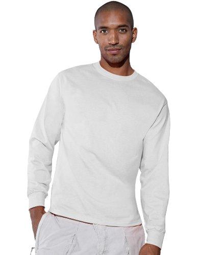 Hanes Tagless 6.1 Long Sleeve T-Shirt, Xl-White