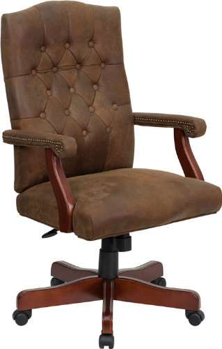 Flash Furniture 802-BRN-GG Bomber Brown Classic Executive Office Chair 0