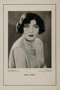 1927 Silent Film Star Renee Adoree MGM Ruth Louise - Original Print