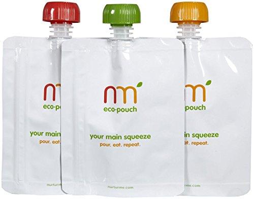NurturMe Reusable Food Pouch - 3 ct