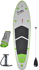 """Inflatable SUP Stand Up Paddle Board and 3PC w/ Paddle 9' 9"""" from Aqua Marina"""