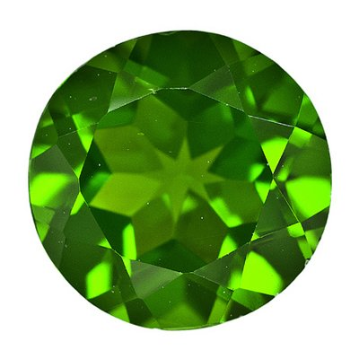 3/4 (0.71-0.80) Cts of 6 mm AA Round Chrome Diopside