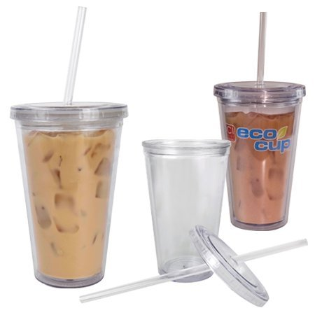 I Am Not A Plastic Cup Plastic Acrylic Tumbler Eco Cup On Ice With Straw