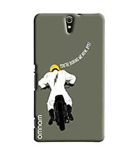Omnam Bikeride Saying You Are Boring Me Now Printed Designer Back Cover Case For Sony Xperia C5