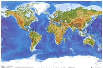 1art1 40946 poster cartes cartes carte physique du - Carte cadeau maison du monde ...