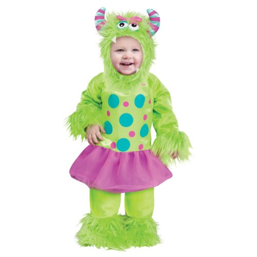 Baby Girls' Terror In A Tutu Green Costume Small (6 - 12 Months)
