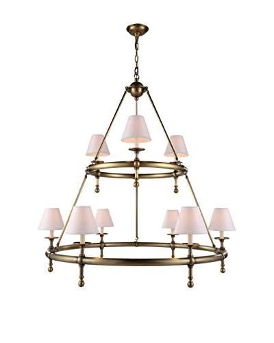 Urban Lights Montgomery 9-Light Pendant Lamp, Antique Bronze